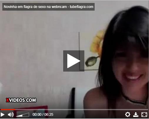 Novinha em flagra de sexo na webcam
